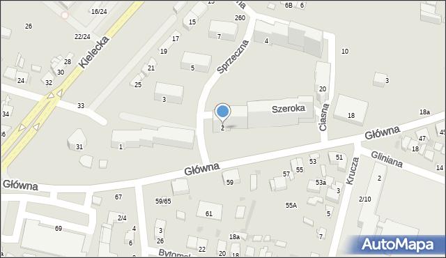 Radom, Szeroka, 2, mapa Radomia
