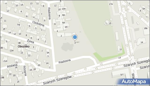 Radom, Szarych Szeregów, 2, mapa Radomia