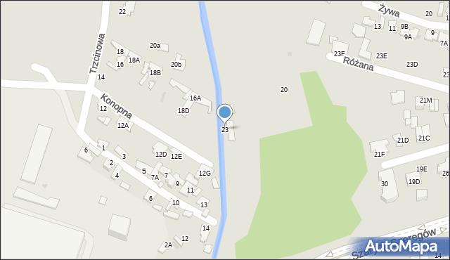 Radom, Szarych Szeregów, 23, mapa Radomia