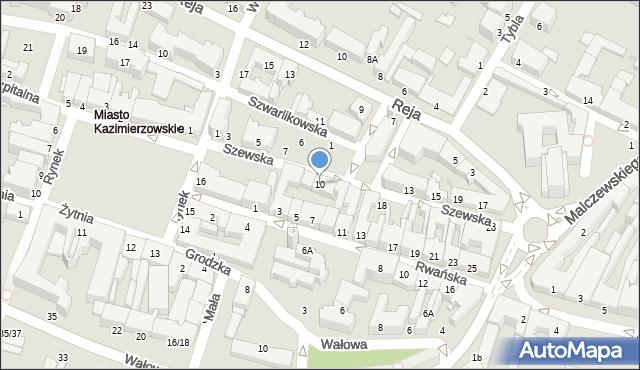 Radom, Szewska, 10, mapa Radomia