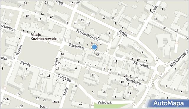 Radom, Szewska, 8, mapa Radomia