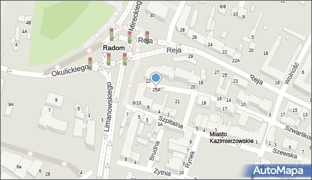 Radom, Szwarlikowska, 25A, mapa Radomia