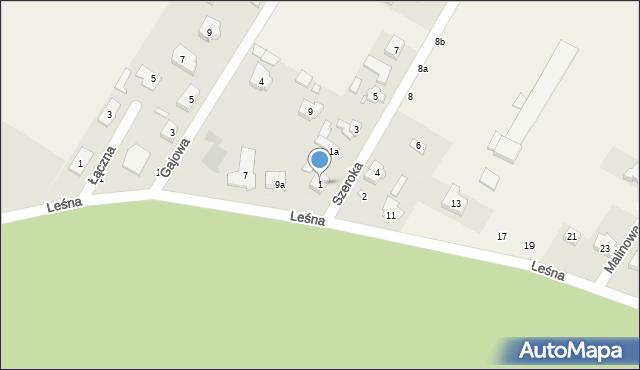 Robakowo, Szeroka, 1, mapa Robakowo