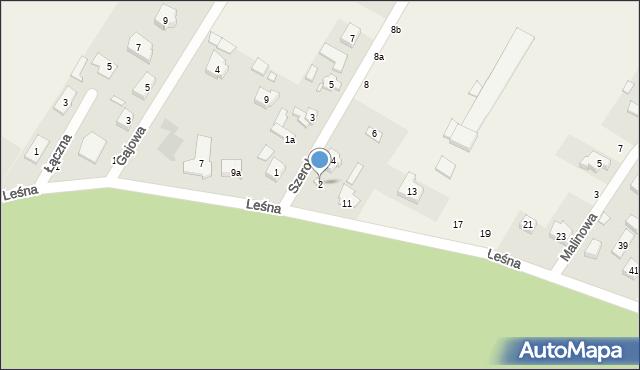 Robakowo, Szeroka, 2, mapa Robakowo
