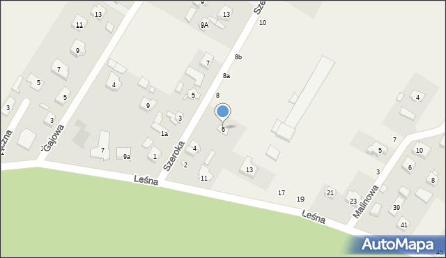 Robakowo, Szeroka, 6, mapa Robakowo