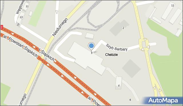 Ruda Śląska, Szyb Barbary, 3, mapa Rudy Śląskiej