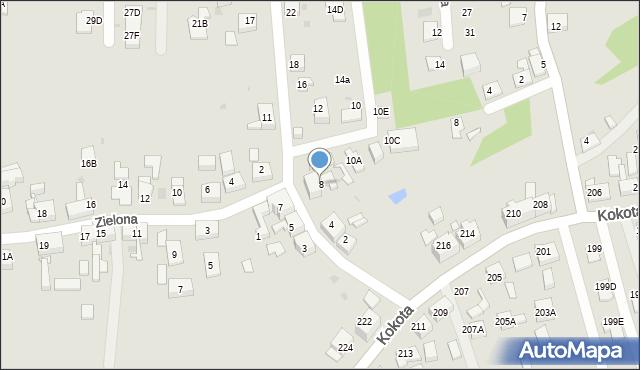 Ruda Śląska, Szymanowskiego Karola, 8, mapa Rudy Śląskiej