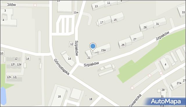 Ruda Śląska, Szpaków, 23, mapa Rudy Śląskiej