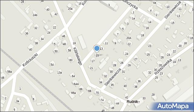 Rudnik nad Sanem, Szkolna, 15, mapa Rudnik nad Sanem