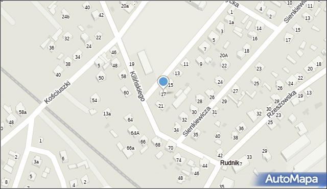 Rudnik nad Sanem, Szkolna, 17, mapa Rudnik nad Sanem