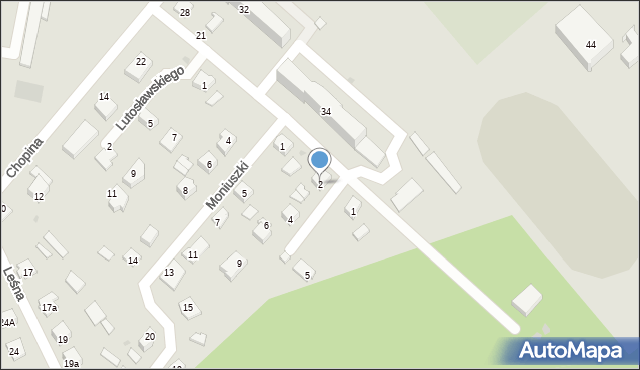 Rudnik nad Sanem, Szymanowskiego Karola, 2, mapa Rudnik nad Sanem