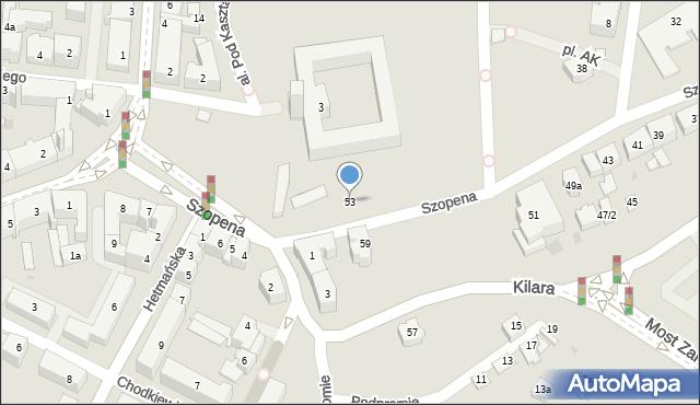 Rzeszów, Szopena Fryderyka, 53, mapa Rzeszów