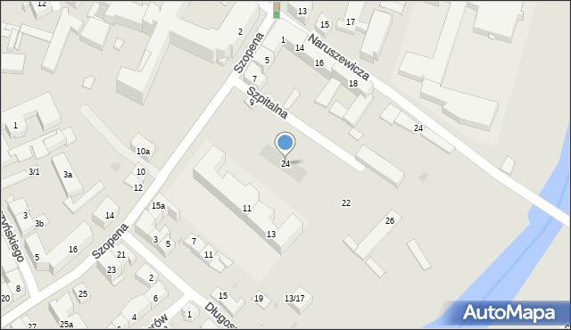 Rzeszów, Szpitalna, 24, mapa Rzeszów