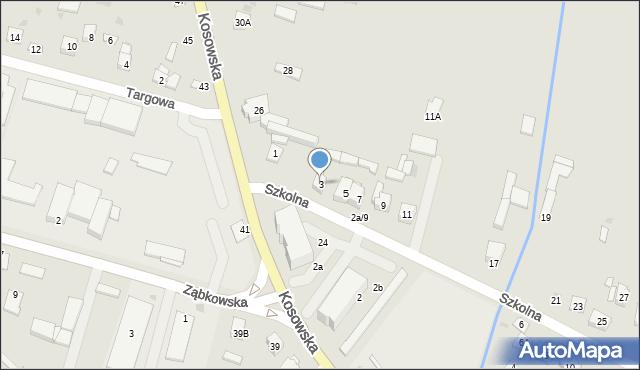 Sokołów Podlaski, Szkolna, 3, mapa Sokołów Podlaski