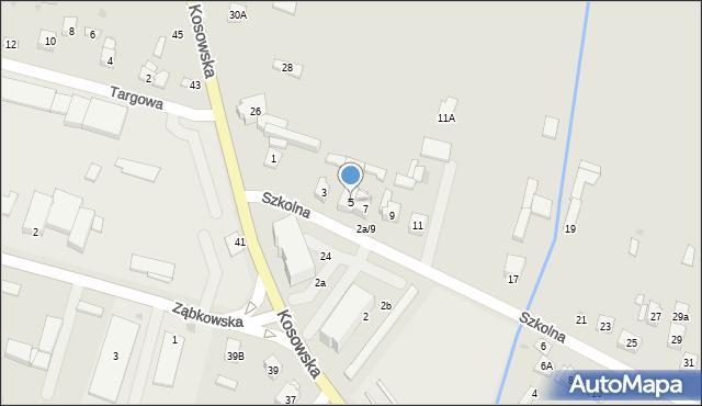 Sokołów Podlaski, Szkolna, 5, mapa Sokołów Podlaski