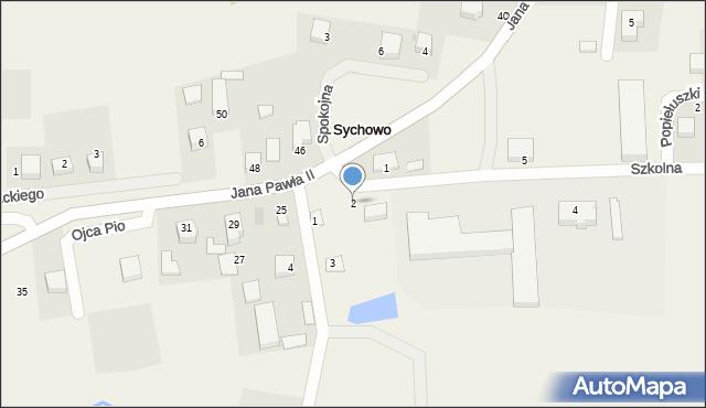 Sychowo, Szkolna, 2, mapa Sychowo