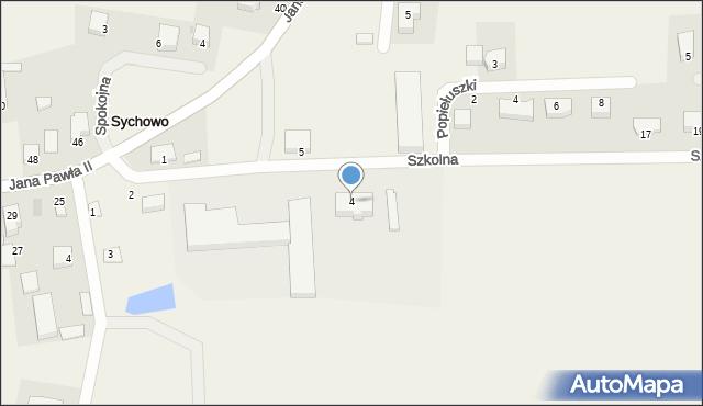 Sychowo, Szkolna, 4, mapa Sychowo