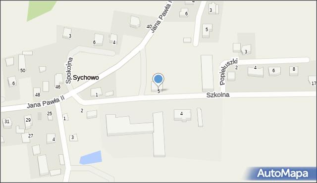 Sychowo, Szkolna, 5, mapa Sychowo