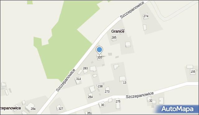 Szczepanowice, Szczepanowice, 320, mapa Szczepanowice