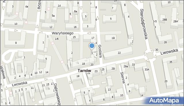Tarnów, Szpitalna, 1, mapa Tarnów