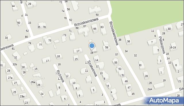 Toruń, Szałwiowa, 16, mapa Torunia