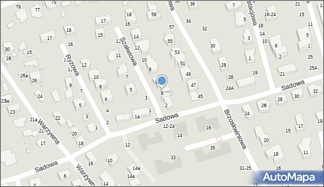 Toruń, Szałwiowa, 4, mapa Torunia