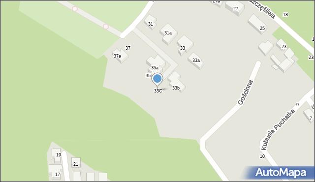 Toruń, Szczęśliwa, 33C, mapa Torunia
