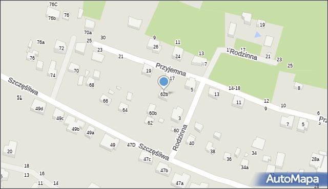 Toruń, Szczęśliwa, 62b, mapa Torunia