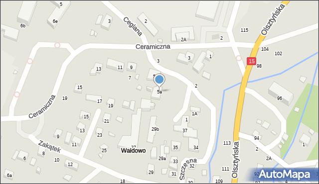 Toruń, Szczęsna, 5a, mapa Torunia