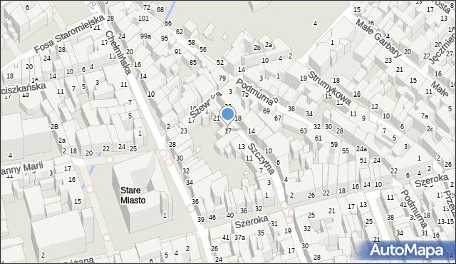 Toruń, Szczytna, 17, mapa Torunia