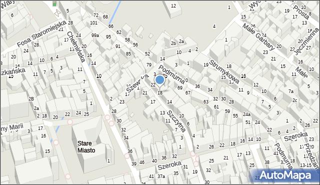Toruń, Szczytna, 18, mapa Torunia