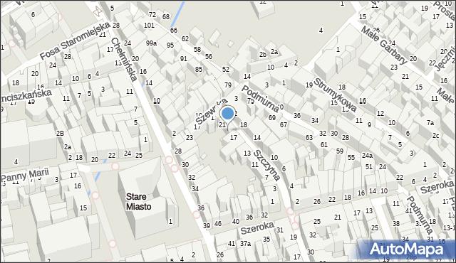 Toruń, Szczytna, 19, mapa Torunia