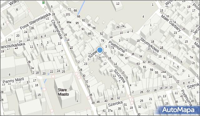 Toruń, Szczytna, 21, mapa Torunia