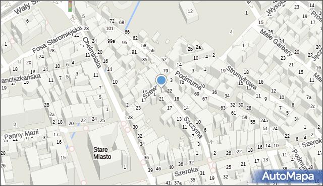 Toruń, Szczytna, 23, mapa Torunia