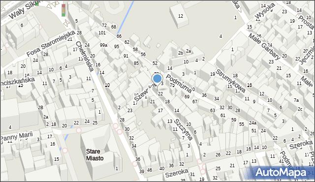 Toruń, Szczytna, 24, mapa Torunia