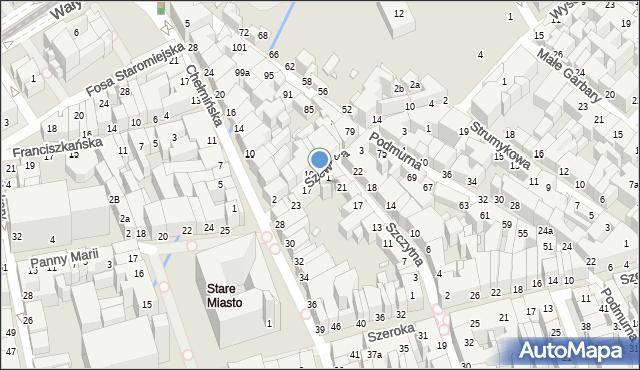 Toruń, Szewska, 13, mapa Torunia