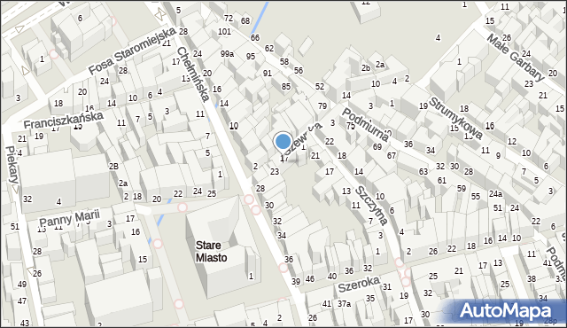 Toruń, Szewska, 19, mapa Torunia