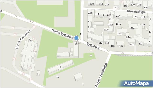 Toruń, Szosa Bydgoska, 1a, mapa Torunia