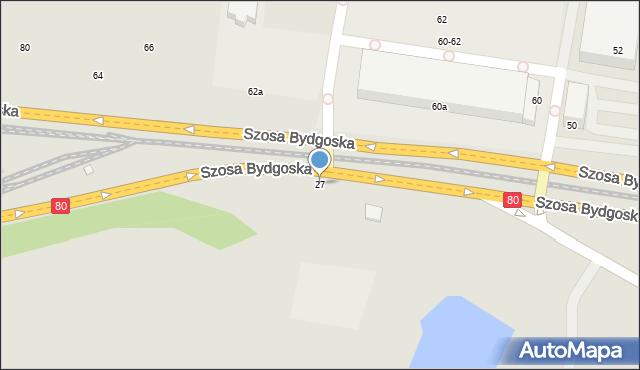 Toruń, Szosa Bydgoska, 25, mapa Torunia