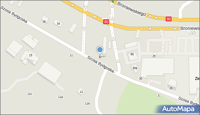 Toruń, Szosa Bydgoska, 32, mapa Torunia