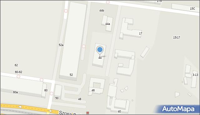 Toruń, Szosa Bydgoska, 44, mapa Torunia