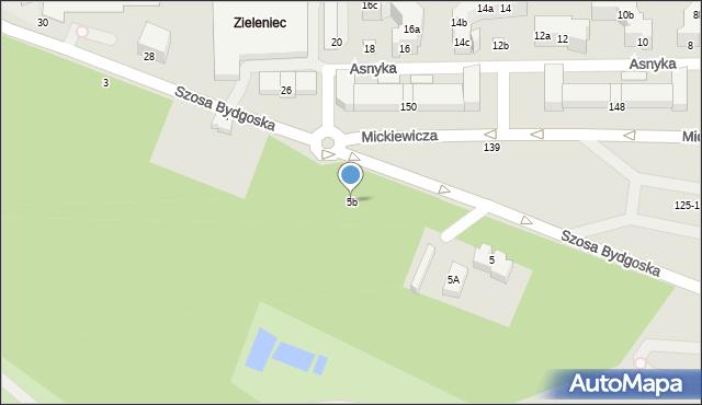 Toruń, Szosa Bydgoska, 5b, mapa Torunia