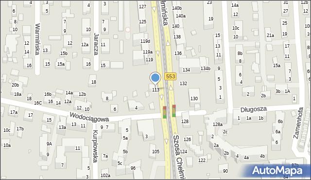 Toruń, Szosa Chełmińska, 111, mapa Torunia