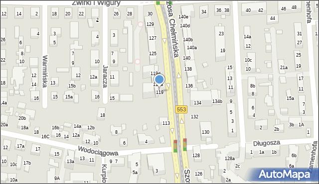 Toruń, Szosa Chełmińska, 117, mapa Torunia