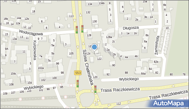 Toruń, Szosa Chełmińska, 124b, mapa Torunia