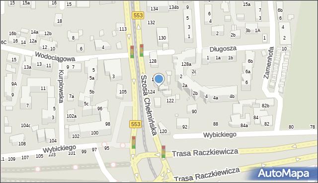 Toruń, Szosa Chełmińska, 124c, mapa Torunia
