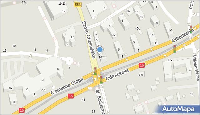 Toruń, Szosa Chełmińska, 16, mapa Torunia