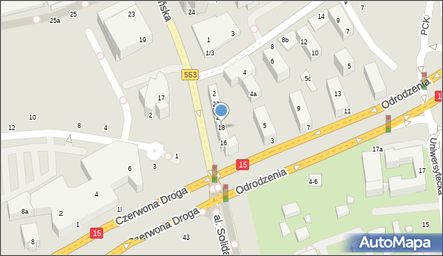 Toruń, Szosa Chełmińska, 18, mapa Torunia