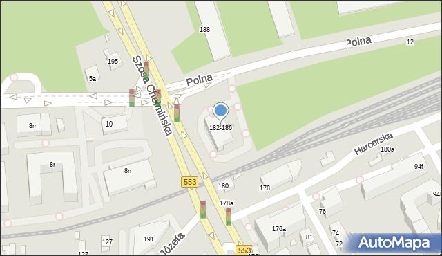 Toruń, Szosa Chełmińska, 182-186, mapa Torunia