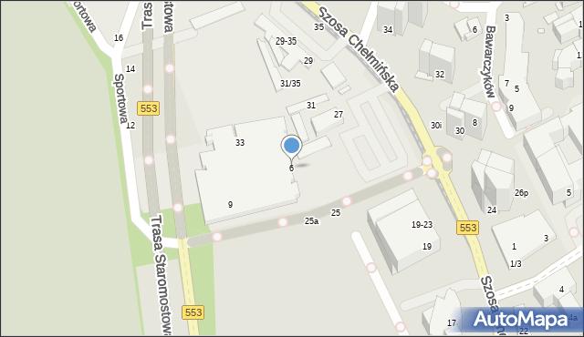 Toruń, Szosa Chełmińska, 2, mapa Torunia